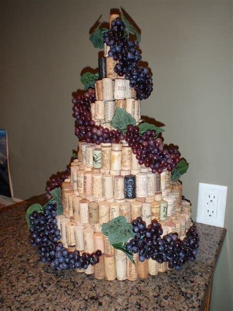 wine themed birthday decorations my wine cork tree made with graduated styrofoam circles
