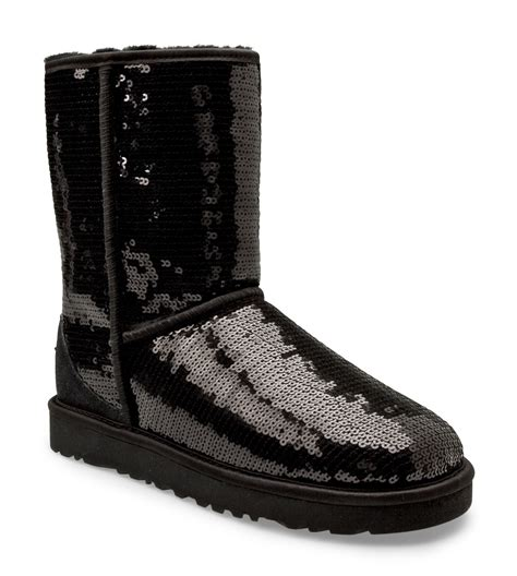 ugg sparkle boots ugg s classic sparkles boots in black