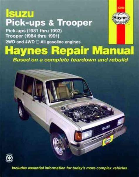 vehicle repair manual 1993 isuzu trooper electronic throttle control isuzu pick ups trooper holden jackaroo rodeo petrol 1981 1993 sagin workshop car manuals