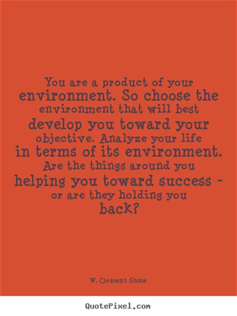 Product Of Your Environment Quote success quote you are a product of your environment so