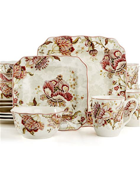 222 Fifth Gabrielle 16 Pc. Set, Service for 4   Dinnerware