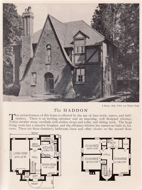tudor house plans 1920 s 1929 home builders catalog haddon house plan american