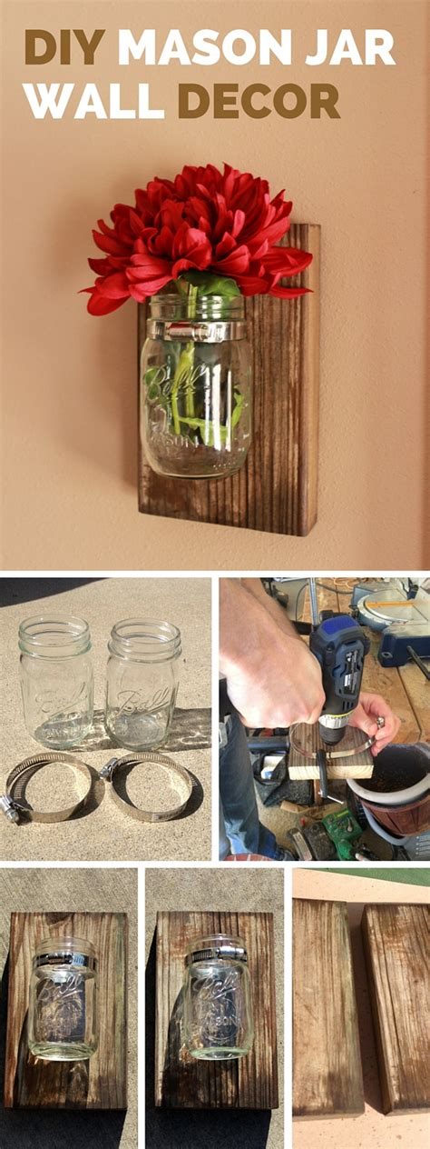 diy home wall decor diy mason jar wall decor