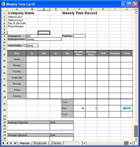 excel timecard template time card template e commercewordpress