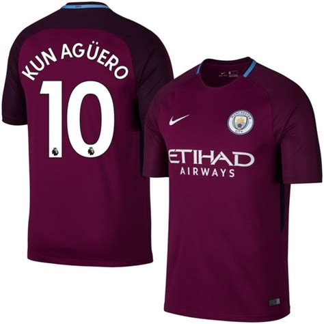 manchester city 10 kun aguero away sleeve mens adults 2016 2017 club soccer jerseys