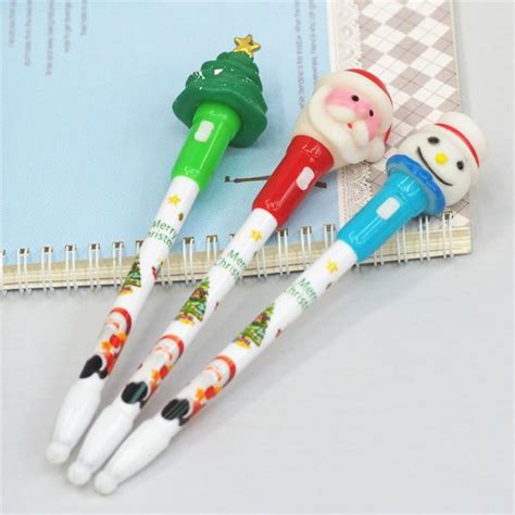 Snowman Ballpoint V 2 factory outlets ballpoint pen snowman santa claus the tree light up