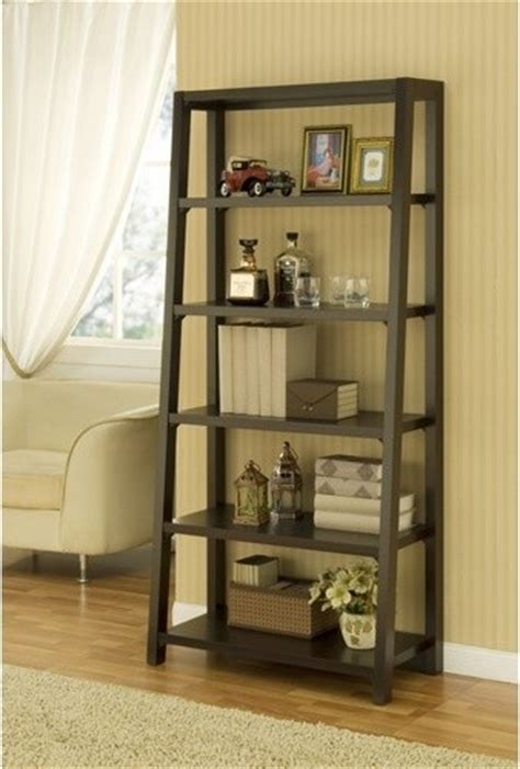 ladder style bookcases heida five shelves ladder style bookcase display cabinet
