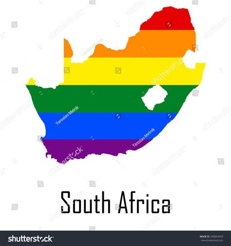 vector map south africa vector rainbow map south africa colors stock vector