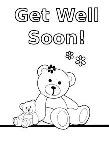 get well soon coloring cards coloring pages