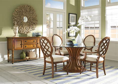 Glass Dining Room Tables And Chairs Vintage Style Glass Top Dining Tables With Pedestal