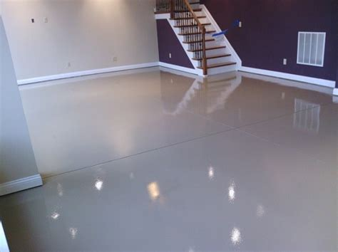 White Epoxy Paint Waterproof Basement Flooring Flooring How To Waterproof Basement Concrete Floor