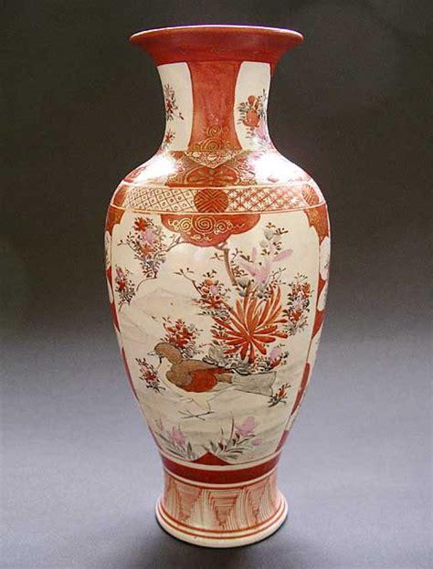 Japanese Pottery Vases by A Japanese Porcelain Kutani China Vase Late