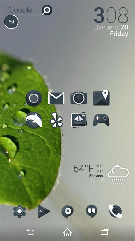 layout for android home screen 10 beautiful custom android home screen layouts 5