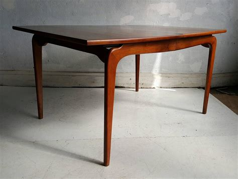 lane dining room furniture classic modernist walnut dining table lane perseption for sale at 1stdibs