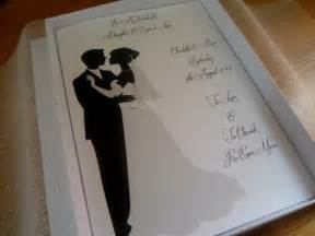 handmade personalised a5 boxed wedding card organza lined with