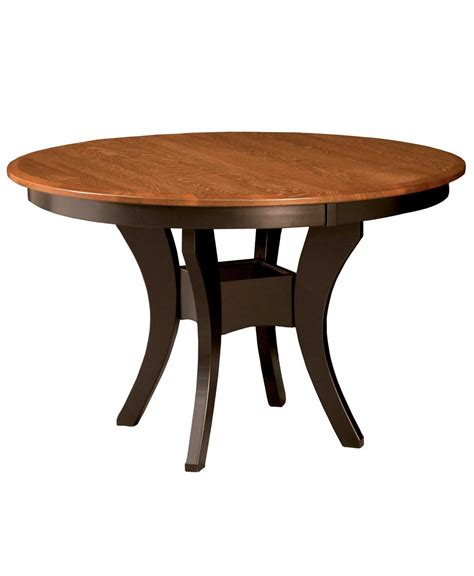 Single Pedestal Dining Table Imperial Single Pedestal Dining Table Amish Direct Furniture
