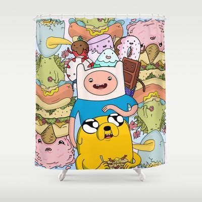 adventure time curtains adventure time shower curtain fans products and art