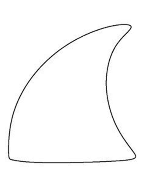 shark fin template 1000 ideas about hat template on templates
