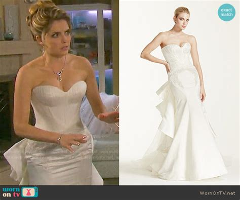wedding band worn by jen lilley from days of our lives wornontv theresa s wedding dress on days of our lives