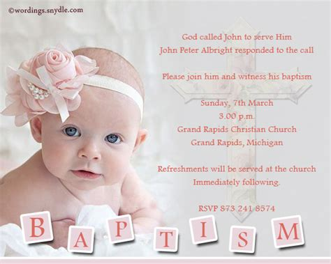 Combined Wedding And Christening Invitations
