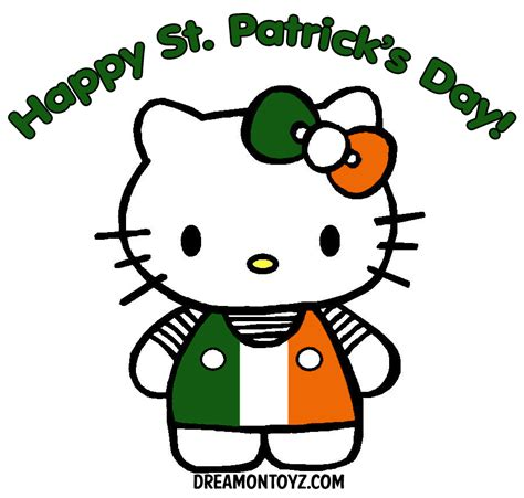 hello kitty coloring pages st patrick s day free cartoon graphics pics gifs photographs st