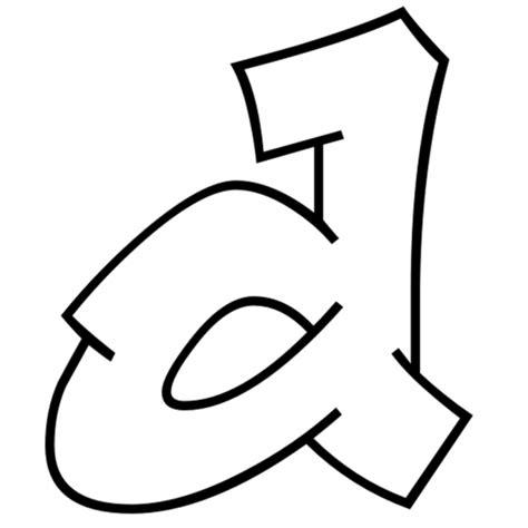 immagini lettere d disegno di lettera d da colorare per bambini