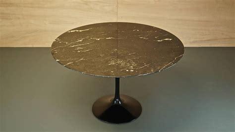 eero saarinen black nero marble tulip dining table for
