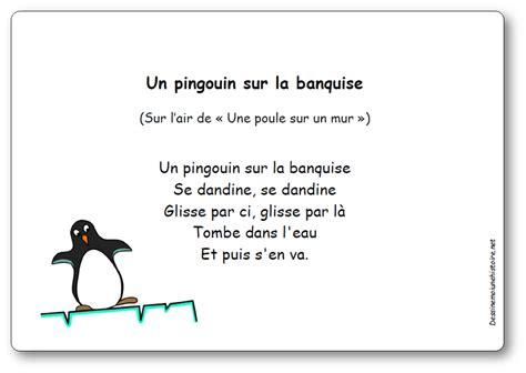 Un Pingouin Sur La Banquise comptine un pingouin sur la banquise paroles illustr 233 es