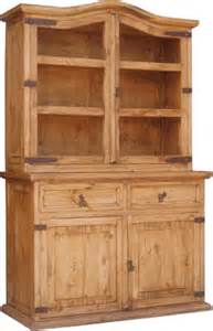 Rustic Dining Room China Cabinet Rustic Pine Hutch Buffet Rustic Buffet And Mexican