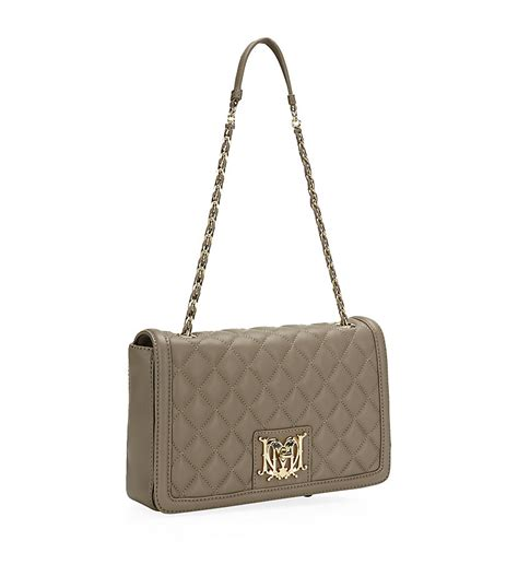 Moschino Bag moschino medium quilted flap bag in beige lyst