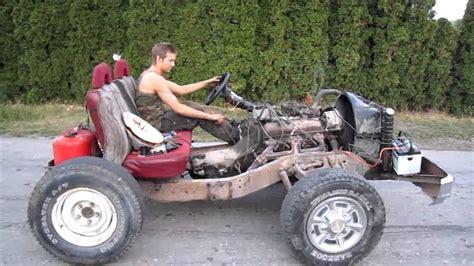 homemade 4x4 off road go kart 350 v8 go cart first run burnout youtube