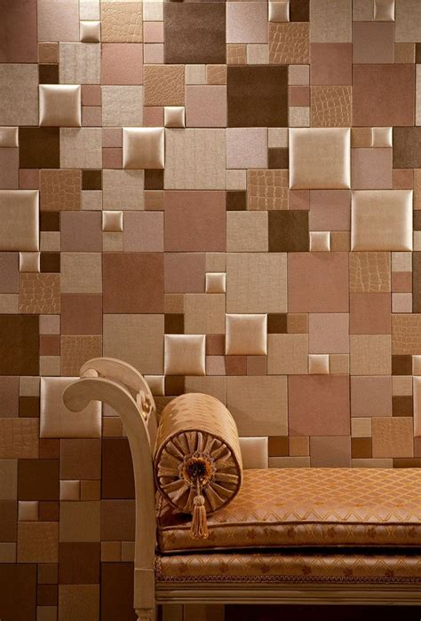 Leather Wall Tiles Nappatile Faux Leather Wall Tiles By Concertex Faux Leather Mosaic Tiles Installation Via 3m
