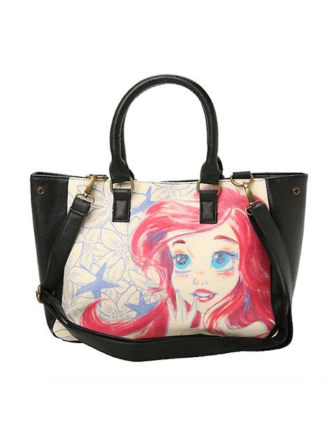ariel flash tote handbag by loungefly disney loungefly ariel sketch tote bag topic