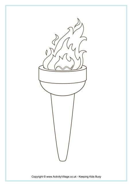 olympic torch 2016 coloring sheets coloring pages