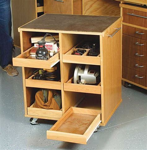 Ideas For Workbench With Drawers Design Rolling Cart Fits A Workbench Storage For Tools Neat Diy Pinterest Power Tools