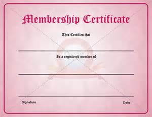 membership certificate templates best photos of format certificate of membership sle