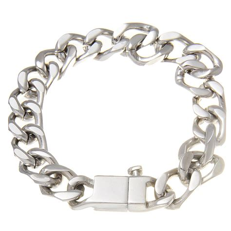 stainless steel link bracelet by ctm 174 s jewelry at