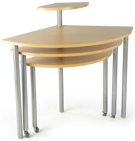 display table maple rotating retail display table 4 tiers