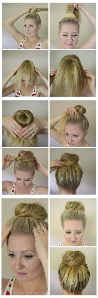 hair donuts instructions how to use a hair donut hair tutorial mustard seed