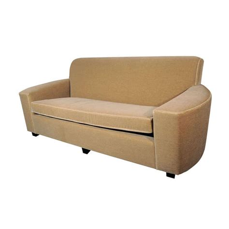 Colored Sofas by Deco Streamline Sofa In Camel Colored Mohair At 1stdibs