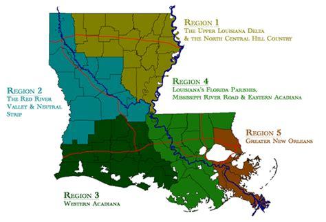 louisiana delta map rflp five state regions