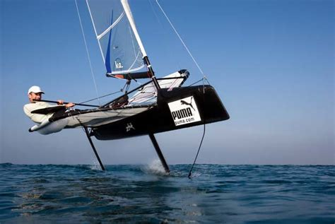 hydrofoil board behind boat the foiling phenomenon the history of foils yachting world