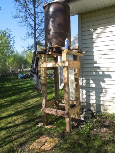 heated outdoor shower pin by dave forsberg on small cabin ideas