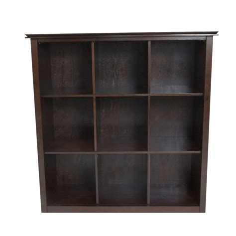 stratford espresso brown 9 cube bookcase storage unit