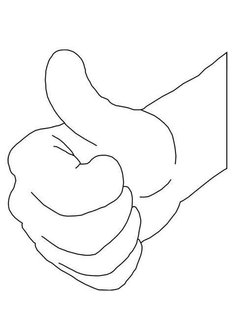 imagenes manos ok dibujo para colorear mano ok img 25677