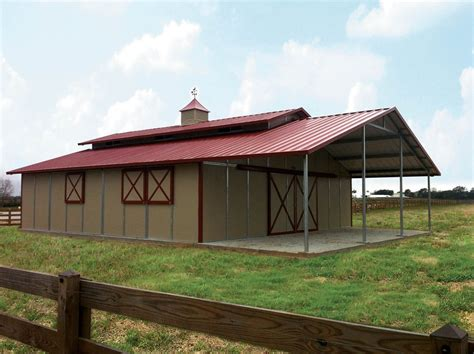 L Shaped House With Porch by San Diego Barns Amp Steel Buildings Horse Barn Construction