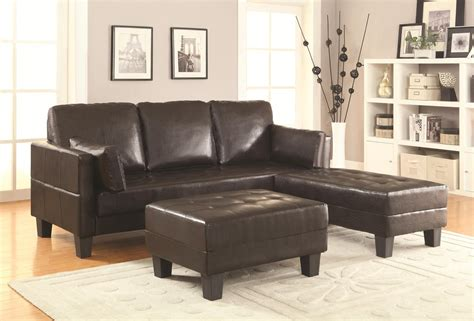 Coaster 300204 Brown Leather Sofa Bed And Ottoman Set Brown Leather Sofa Beds