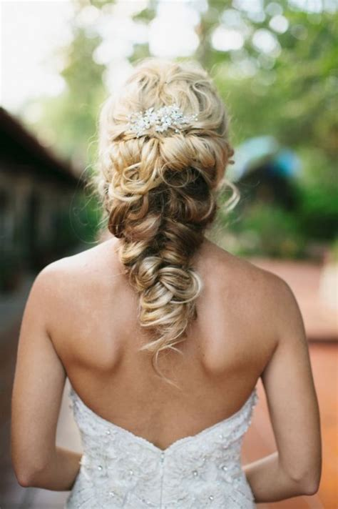 Wedding Hairstyles Using Braids by Twisted Fishtail Braid Updo Wedding Hairstyle Deer Pearl