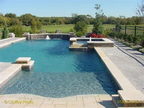 1000 Ideas About Beach Entry Pool On Pinterest Pools Entry Swimming Pool Designs