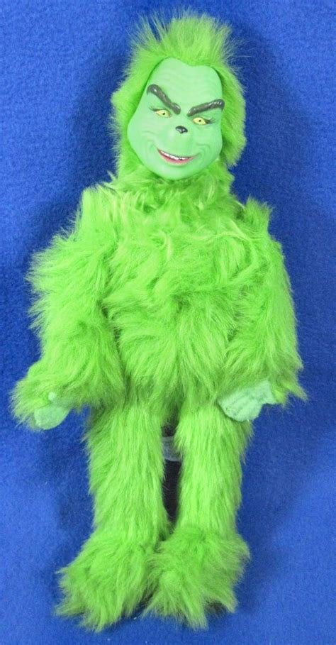 "Dr. Seuss How The Grinch Stole Christmas 13"" Plush Talking Posable Toy Doll #PlaymateToys"